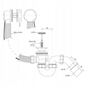 Syfon wannowy McAlpine HC31M-N1