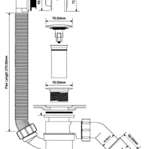 Syfon wannowy McAlpine HC2600CL