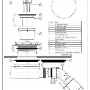 Syfon brodzikowy McAlpine HC2730LCPN-PB