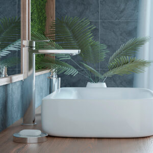 Calla – bateria umywalkowa stojąca nablatowa