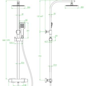 Calla – kolumna natryskowa z baterią termostatyczną