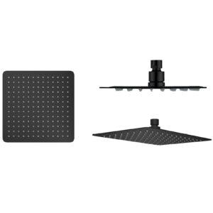 Głowica prysznicowa kwadratowa Slim czarny mat