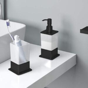 Dozownik do mydła w płynie stojący Riko czarny