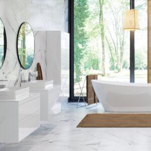 Szafka pod umywalkę nablatową biały lakier